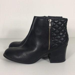 MIA Black Knoxx Block Heel Booties
